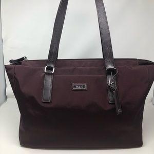 Tumi  Nylon Tote Bag Bordeaux Color